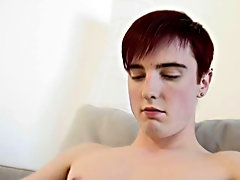 He squeezes his cock hard then rubs the head with his free disposal and Cums all upward of himself male masturbatio
