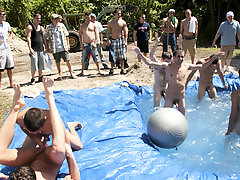 I mean its not embarrassing enough playing naked in a nasty feign pool gay group masturbation video