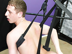 He squeals with pleasure as he taps into unexplored territory while moving himself into just about every position possible on the swing first  gay at