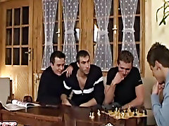 While most of the guys are sleeping at the cabin, George and Ray fuck beside Thomas and Madmax in the cott's living room free gay group sex