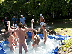 as punishment for losing these unfortunate pledges had to suck each their off in front of their brothers and fellow pledges naked sportsmen thumbnai