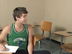 Ashton Rush and Brice Carson are at school practicing Romeo and Juliet and Ashton is getting cheeky with Brice, teasing him for his adorable southern