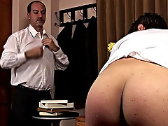 The future employee then falls on his knees to blow this magnificent pork sword first time gay porn
