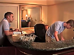 He works at the Blue Moon Resort and lives with his boyfriend on site...yet high water he still manages to get it on with Dillon Samuels' tight s