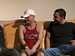 Ben thinks he is coming in for an audition to be on a reality show, but the actuality is that two huge gay dicks are gonna be cumming in him gay group