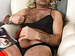 Two crossdressing addicted guys compete trying to obtain sexy model looks, and of course, it's female models that they're after free pics of