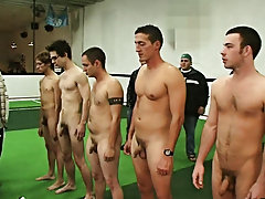 They wrapped things off in the locker room where the two losers had to fuck and suck group sex guy