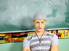 Steffen Van is loving his new career in the porn industry and discusses all of the personal details about his first continuously shoot with pornstar b
