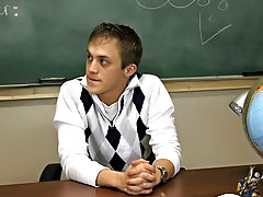 Teacher is sitting at his desk looking so good male cum swallow dudes movi at Teach Twinks