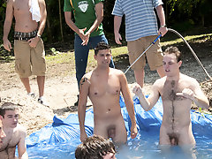 There is nothing like a tidy summer time splash, especially when the lake is bloke made and ghetto rigged as fuck army gay group sex