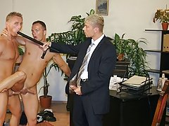 When the cop is ready for his ass, Giorgio sits on the cop's dick male masturbate group