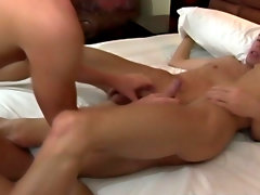 This quickly escalates to some cock sucking, and before long there are dicks flying around and landing in some tight twink asses hot amateur gay twink