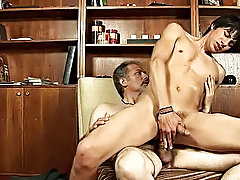 Watch the big chains come in and start blowing the burdensome stick proper away gay boy sex video samples