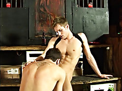 This gets the cum soaked ramrod player worked up and he has to extract the juice from his balls to finish gay guys giving blowjobs i at Backroomfucker