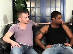 His first huge cock gay interracial gangbang