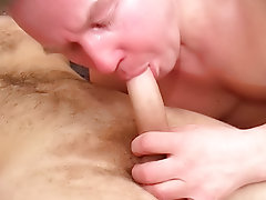 The older lover wrapped his lips around the shaft, lubing it up  getting it agreed heterosexual up his tight shitter view free hairy hunk gay sex