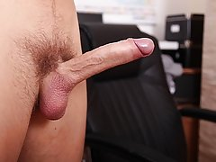 He lays back and strokes his cock, shooting dippy sticky hot Cum all over his tummy male masturbation ways
