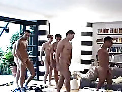 Diverse sexual activities happen in this great fuck fest: gay sucking dick, blow jobs, gay ass rimming, ass fingering, kissing, fucking ass gay wrestl