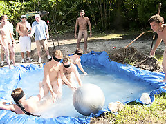 these poor pledges had to extemporize blind folded in this hole in the set filled with water gay male group sex pictures