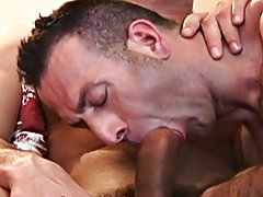 Marcos licks Antonio's bullet nipples and pulls on them as Antonio moans huge groans of urge, and his partner receives a similar pleasure as his