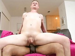 Barely fitting it in his mouth, Alex decided to see if his ass can do better guys stroking their big cocks