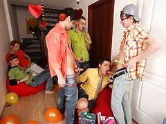 Five dicks will taste his bum principal financial grou at Crazy Party Boys