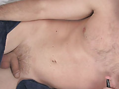 That cock he had hidden gets hard via his girlfriend sucking on him and it extends to a  and a half inch measurement free male masturbatio at Broke Co