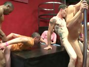 Gay male group sex and long gay group sex at Sausage...
