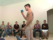 Groups of men naked in the shower and wild gay group...