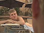 Jerrick Dalton and Wes Dynasty are having a day by the pool, complete with rimjobs ,and mindless fucking gay pic post twink