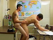 Twink tradesman and young gay twinks cum in mouth gloryhole at Teach Twinks
