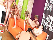 Army gay group sex and male group masturbation at Crazy Party Boys