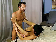 Once he is hard as a rock, Bryan lays into Kyler's ass, slamming his hole until the chap is wailing for more hardcore gay interacial at Bang Me S