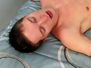 Male orgasm through anal and cute boy gay legs -...