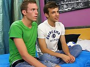 Gay twinks stripping and first time gay blowjob - at...
