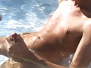 Right there on the grass this guy slips his tongue along the shaft of Lexx's large, rock hard cock gay outdoor fuck