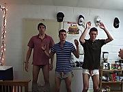 These pledges are planning a prank on one of their brothers, and everything goes pretty well to plan, until they get caught jerking off on his door ha