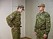 Spanking is a favorite game of this sergeant sub man...
