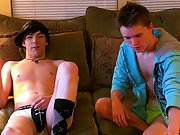 Hard twink dicks bulging in there underwear and twink wearing shorts spanking - at Boy Feast!