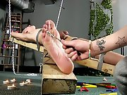 Gay male escort bondage sex slave training and male...