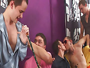 Gay rimming groups and male group shower at Crazy...