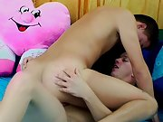 Free gay twink gallerys and his first gay double...