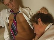 After a few minutes of tongue foreplay with the lollipop, Kayl loses interest in sucking his lollipop, he starts playing with his dick under the desk.