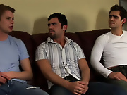 His first huge cock gay group sex video trailer