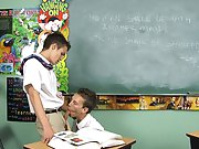 If only detention had been this much fun gay teen first time at Teach Twinks