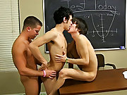 Ryan is up first and Drake pushes his head down on Kyler's jock while thrashing and fucking him gay asian boy twinks at Teach Twinks