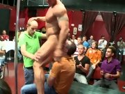We're back for more sausage sucking action amature gay group sex at Sausage Party