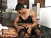 On fitting his long-haired wig Rodolfo gets all-hot-and-bothered ready to polish his joy knob mutual male masturbation