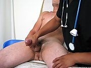 To help finish the task he reached behind him and got a handful of lube and continued to jerk me off with that college guy cum