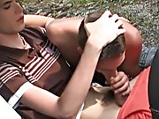 The floppy haired cutie getting fucked hard and fast puts up with a pounding of a lifetime outdoor gay orgies